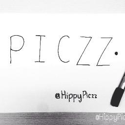 hippypiczz piczziphone paper pen blackandwhite