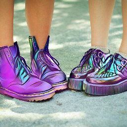 freetoedit rainbow boots girl summer