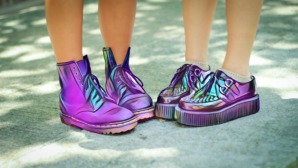 #FreeToEdit #rainbow #boots #girl #summer #sun #legs