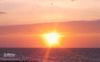 sunset tonight nofilter beach clouds