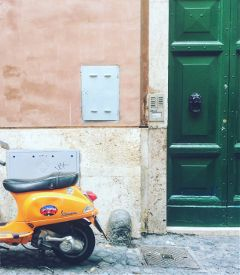 italy rome trastevere colors green