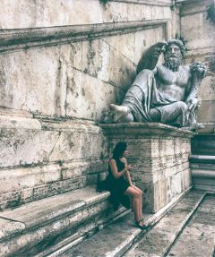 girl italy rome sculpture travel