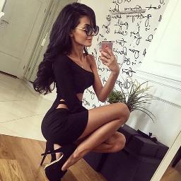fancy dress black tan curvy
