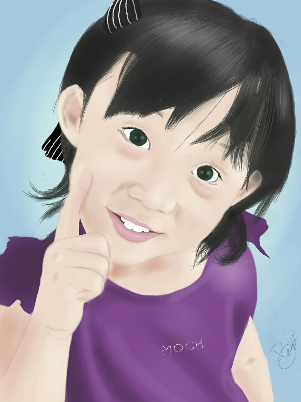 A sense of wonderment on this scale is hard to contain.   #cute #colorful #portrait #drawing #smile #girl #model #people