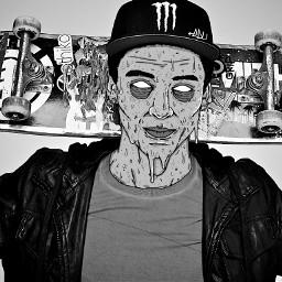 sls skate blackandwhite grimeart draw
