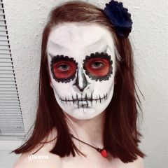 makeup dayofthedead halloween skull beautiful