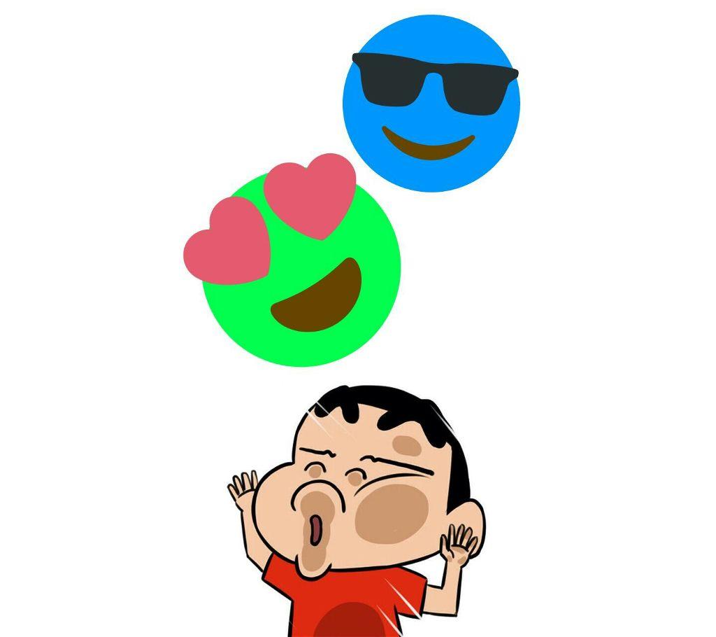 Shin Chan Ft Emojis Wallpaper Freetoedit Enjoy Shi