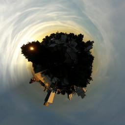 sunset tinyplanet laplata buenosaires argentina