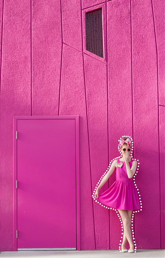 #pink #wall  #dottedoutline  #FreeToEdit