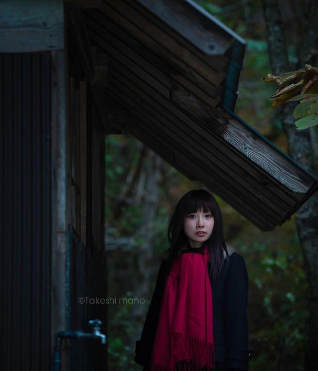 #portrait #japan #autumn #woman #photography #red #people