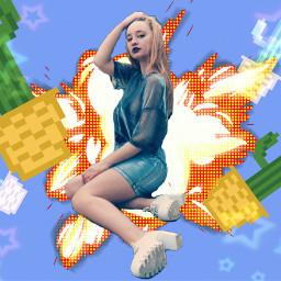 freetoedit cactus girl explosion star